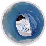 Wormhole 2 Round Beach Towel