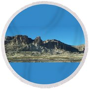 Round Beach Towel featuring the photograph Western Landscape by Eunice Miller