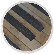 Worn Out Keys Round Beach Towel by Photographic Arts And Design Studio