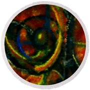 Worship In Movement Round Beach Towel by Leanne Seymour