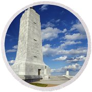 Wright Brothers Memorial D Round Beach Towel by Greg Reed