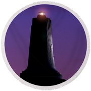 Round Beach Towel featuring the photograph Wright Brothers Memorial by Greg Reed