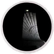 Round Beach Towel featuring the photograph Wright Brothers Memorial II by Greg Reed