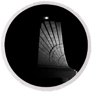Round Beach Towel featuring the photograph Wright Brothers National Memorial by Greg Reed