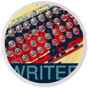 Writer Round Beach Towel