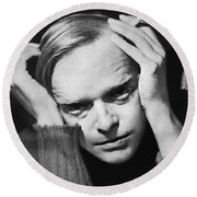Writer Truman Capote Round Beach Towel