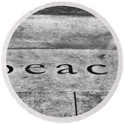 Written In Stone Round Beach Towel