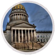 Wv Capital Building 2 Round Beach Towel
