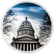 Wv State Capitol Building Round Beach Towel