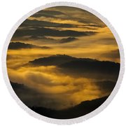 Wva Sunrise 2013 June II Round Beach Towel by Greg Reed