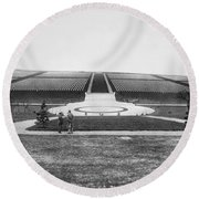 Wwi Cemetery In France Round Beach Towel