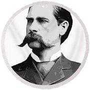 Wyatt Earp Old West Legend Round Beach Towel