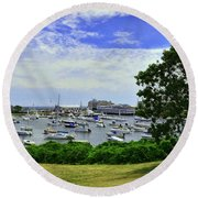 Wychmere Harbor Round Beach Towel by Allen Beatty