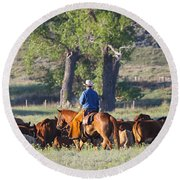 Wyoming Country Round Beach Towel by Diane Bohna
