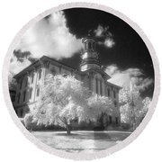 Wyoming County Courthouse Round Beach Towel