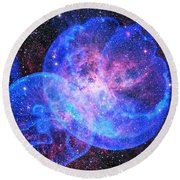 X-factor In Universe. Strangers In The Night Round Beach Towel