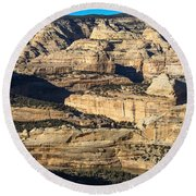 Yampa River Canyon In Dinosaur National Monument Round Beach Towel by Nadja Rider