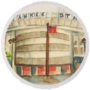 Yankee Stadium  Round Beach Towel