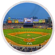 Yankee Stadium Round Beach Towel by Jeffrey Friedkin
