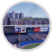 Yankee Stadium Ny Usa Round Beach Towel