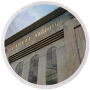 Yankee Stadium Round Beach Towel by Stephen Stookey