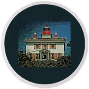 Yaquina Bay Lighthouse Round Beach Towel