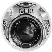 Yashica 635 - Front Detail Round Beach Towel
