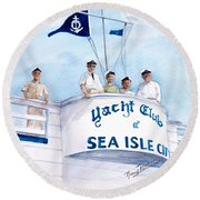 Ycsic Race Committee 2 Round Beach Towel