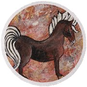 Year Of The Horse Round Beach Towel