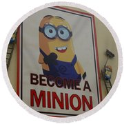 Year Of The Minions Round Beach Towel