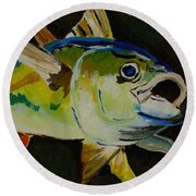 Yellow Fin Tuna Round Beach Towel