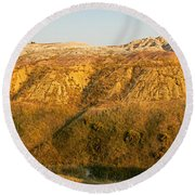 Yellow Mounds Overlook Badlands National Park Round Beach Towel