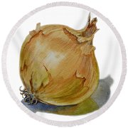Yellow Onion Round Beach Towel
