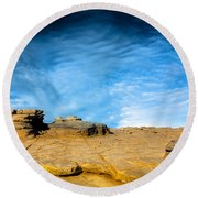 Yellow Rock Round Beach Towel