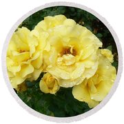 Yellow Rose Of Pa Round Beach Towel by Michael Porchik