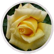 Yellow Rose Say Goodbye Round Beach Towel