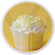 Yellow Sprinkles Round Beach Towel