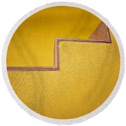 Yellow Steps Round Beach Towel by Melinda Ledsome
