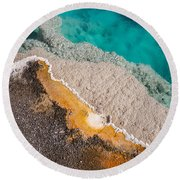 Yellowstone Abstract Round Beach Towel