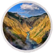 Yellowstone Canyon View Round Beach Towel