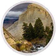 Yellowstone's Beauty Round Beach Towel