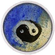 Yin Yang Painting Round Beach Towel