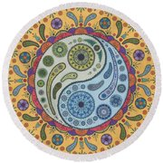 Yinyang Round Beach Towel