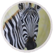 Yipes Stripes Round Beach Towel