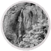 Round Beach Towel featuring the photograph Yosemite Falls by Mark Greenberg