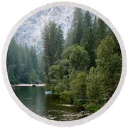 Round Beach Towel featuring the photograph Yosemite National Park by Laurel Powell