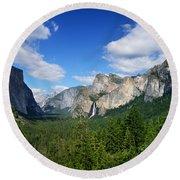Yosemite National Park Round Beach Towel by RicardMN Photography