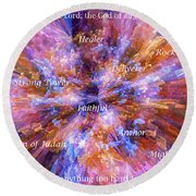 You Are The Lord Round Beach Towel by Margie Chapman