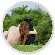 Young Earth Round Beach Towel