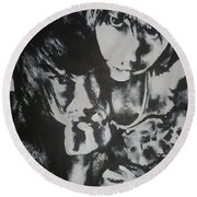 Young Lovers Round Beach Towel